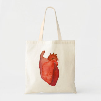 one heart budget tote bag