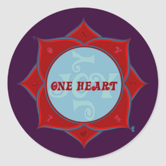 One Heart Lotus Sticker
