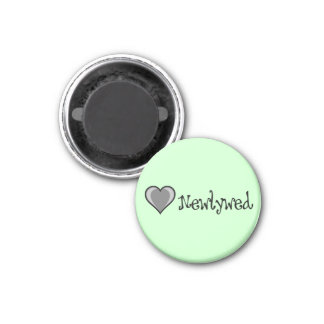 One Heart - Newlywed - Black & White Magnet