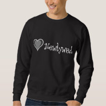 One Heart - Newlywed - Black & White Sweatshirt