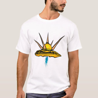 one heavyweight t shirt with ufo