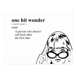 ONE HIT WONDER POSTCARD