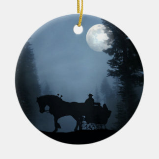 One Horse Open Sleigh Ornament
