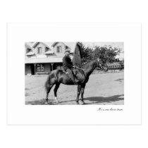 one horse postcard
