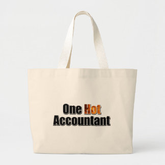 One Hot Accountant Large Tote Bag