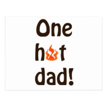 One Hot Dad Postcard
