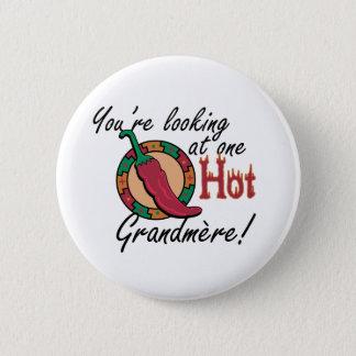 One Hot Grandmere Pinback Button