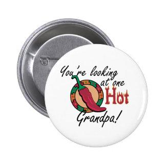 One Hot Grandpa Pinback Button