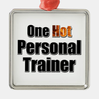 One Hot Personal Trainer Metal Ornament