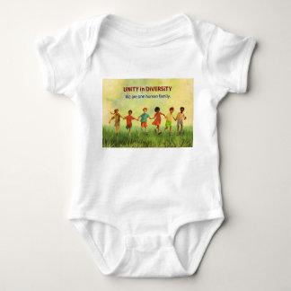 One Human Family Baby Bodysuit