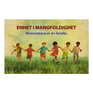 One Human Family (Norwegian) Poster