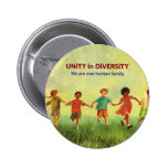 One Human Family Pinback Buttons