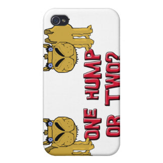 One Hump or Two Schnozzle Camel Cartoon iPhone 4/4S Case