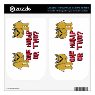 One Hump or Two Schnozzle Camel Cartoon FreeAgent GoFlex Decal