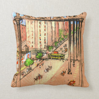 One Hundred and Tenth Street Elevated 1904 Throw Pillow