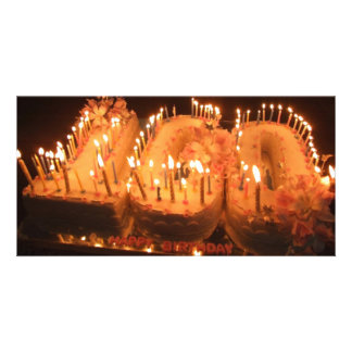 One Hundred Candle Cake Card