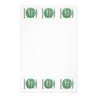 One Hundred Dollar Bill Custom Stationery