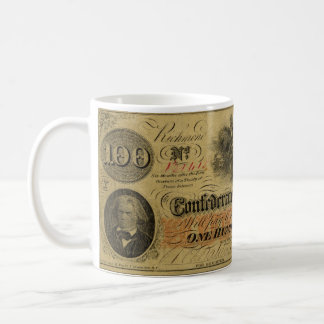 One Hundred Dollar Confederate Banknote Coffee Mug