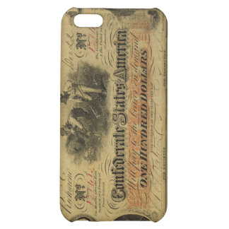 One Hundred Dollar Confederate Banknote Case For iPhone 5C