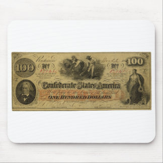 One Hundred Dollar Confederate Banknote Mouse Pad