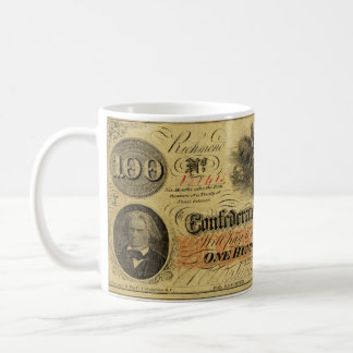 One Hundred Dollars Confederate States of America Coffee Mug