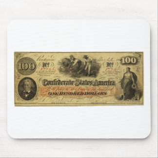 One Hundred Dollars Confederate States of America Mouse Pad