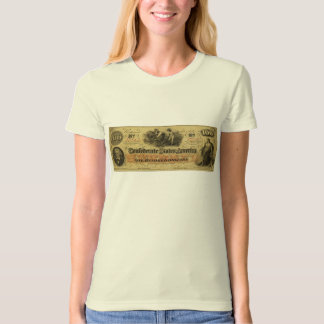 One Hundred Dollars Confederate States of America T-Shirt