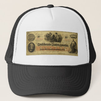 One Hundred Dollars Confederate States of America Trucker Hat