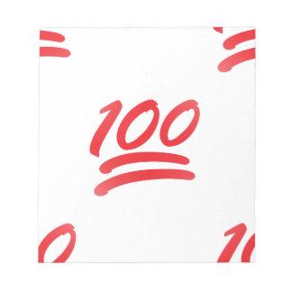 one hundred emoji note pad