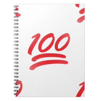 one hundred emoji spiral notebook