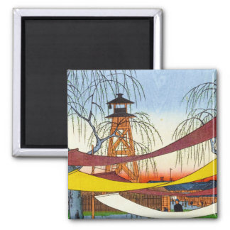 One Hundred Famous Views of Edo Ando Hiroshige 2 Inch Square Magnet