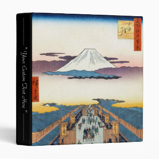 One Hundred Famous Views of Edo Ando Hiroshige 3 Ring Binder