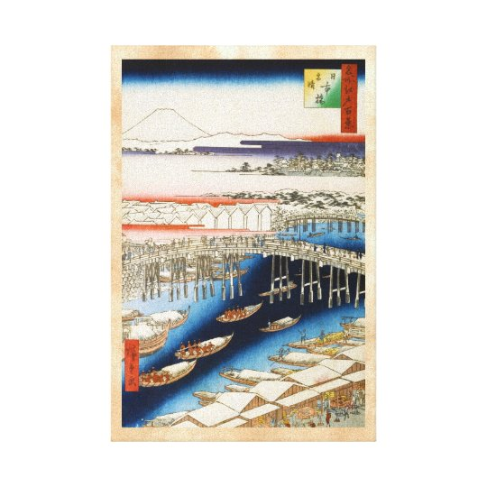 One Hundred Famous Views of Edo Ando Hiroshige Canvas Print