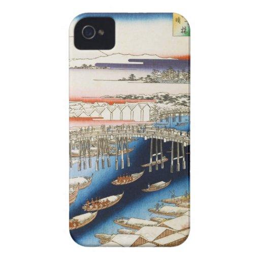 One Hundred Famous Views of Edo Ando Hiroshige iPhone 4 Case