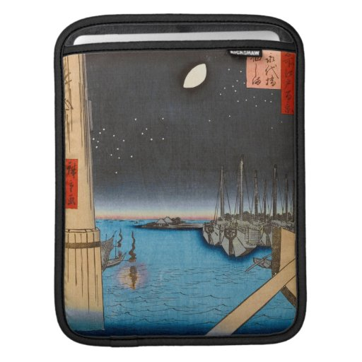 One Hundred Famous Views of Edo Ando Hiroshige Sleeves For iPads