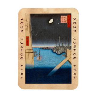 One Hundred Famous Views of Edo Ando Hiroshige Magnet