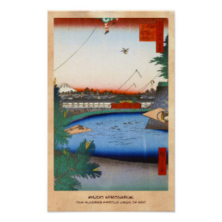 One Hundred Famous Views of Edo Ando Hiroshige Poster