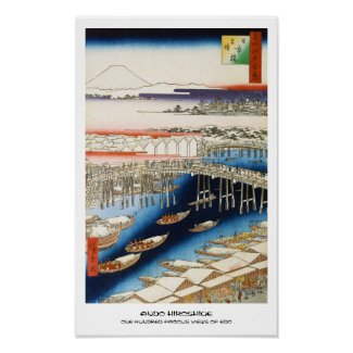 One Hundred Famous Views of Edo Ando Hiroshige Print