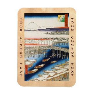 One Hundred Famous Views of Edo Ando Hiroshige Rectangular Photo Magnet