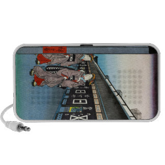 One Hundred Famous Views of Edo Ando Hiroshige Notebook Speakers