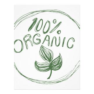 One Hundred Percent Organic Letterhead