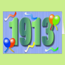 One Hundredth Birthday 1913 Card