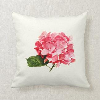 One Hydrangea Cluster Throw Pillow