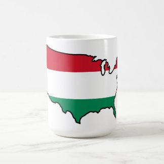 One-Image Mug: Hungarian in USA Coffee Mug