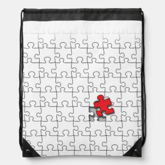 One in 110 - Autism Awareness Drawstring Backpack