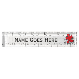 One in 110 - Autism Awareness Name Plate