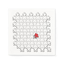 One in 110 - Autism Awareness Napkin
