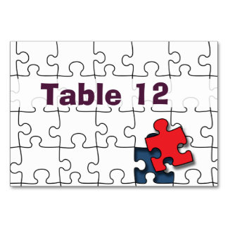 One in 110 - Autism Awareness Table Card
