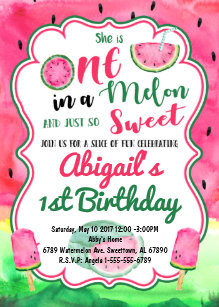 one in a melon invitations zazzle