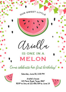 watermelon birthday invitations zazzle